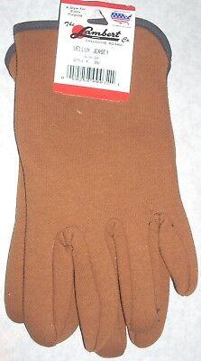 Lambert 99V Green Vellux Jersey Gloves Slip On Wrist Large USA Made