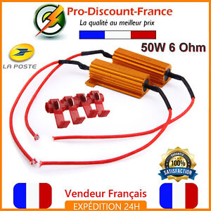 2-x-Resistance-Anti-Erreur-Module-50W-6ohm-LED-Clignotants-Phare-Feux-Voiture