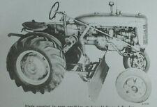 Ih International Mccormick A 60 Super A 100 130 140 Snow Amp Grader Blade Manual