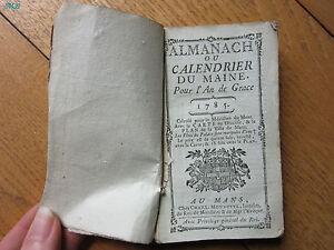 Almanach-ou-calendrier-du-Maine-1785