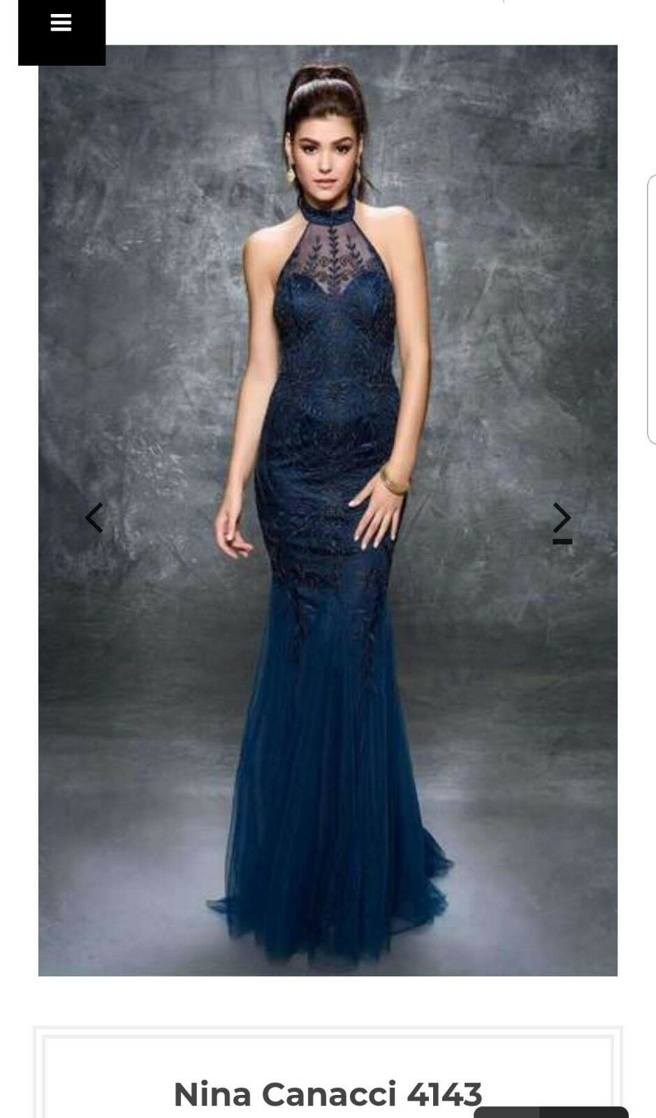 Nina Canacci Blue Full Length Dress 4143 - Size 10 - Wedding Prom and/or Formal