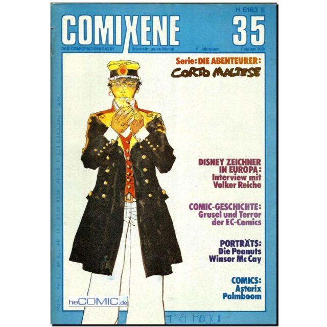 Comixene 35 Comicfachmagazin 1981 Hugo Pratt CORTO MALTESE VOLKER REICHE PEANUTS
