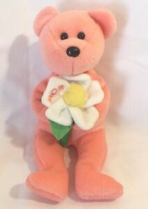 """Ty Beanie Baby DEARLY Mom pink Bear 8"""" Mother's Day bear 2004"""