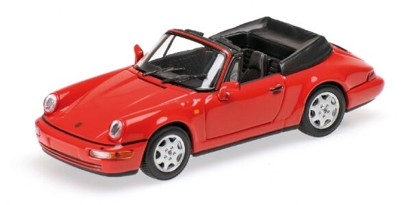 Porsche 911 voiturerera  2 cabriolet 1990 rouge 1 43 minichamps model  sports chauds