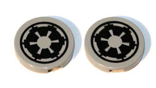 hellgrau alt 2x LEGO® Fliese//Kachel 2x2 rund mit SW Imperialem Logo 4150ps5 NEU