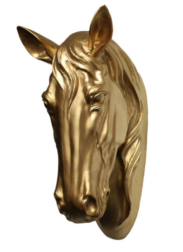 Dekofigur cheval buste cheval or tierdeko étalon jument