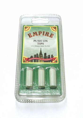 Empire Push On Cue Tips 3 X 10 MM FREE CHALK