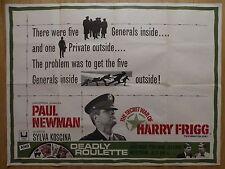 THE SECRET WAR OF HARRY FRIGG / DEADLY ROULETTE (1968) - UK quad film poster