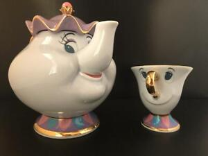 Beauty-and-the-Beast-Tokyo-Disney-Resort-Mrs-Potts-Tea-Pot-amp-Chip-Tea-Cup-Set