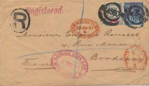 Lettre-Registered-Glasgow-ecosse-pour-la-France-Cover-scotland