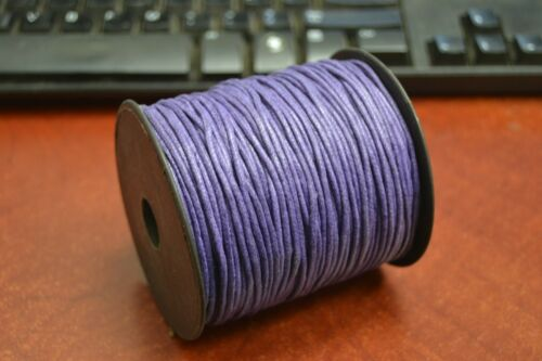 100 METER PURPLE WAXED COTTON BEADING CORD STRING ROLL 2MM #F-52H