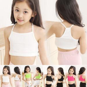 Baby-Kids-Girls-Underwear-Crop-Yoga-Dance-Brassiere-Tee-Cami-Bra-Vest-Top-3-9T