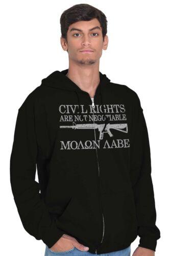 Civil Right Molon Labe USA ShirtGun 2nd Amendment America Zip Hoodie