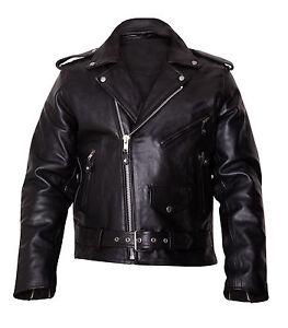 Mens-Motorbike-Brando-Leather-Jacket-Motorcycle-Scooter-Jacket-Fashion-jacket