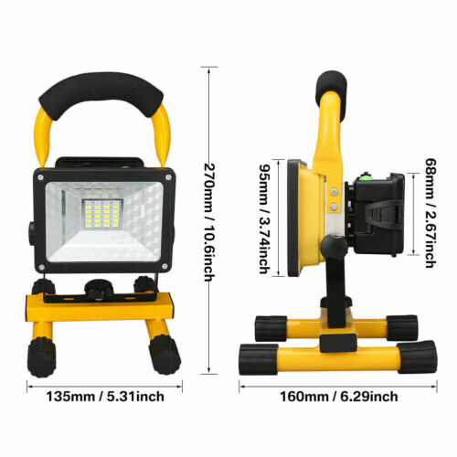 30W 50W 80W LED Work Light Rechargeable Floodlight Portable Security Work Lamp