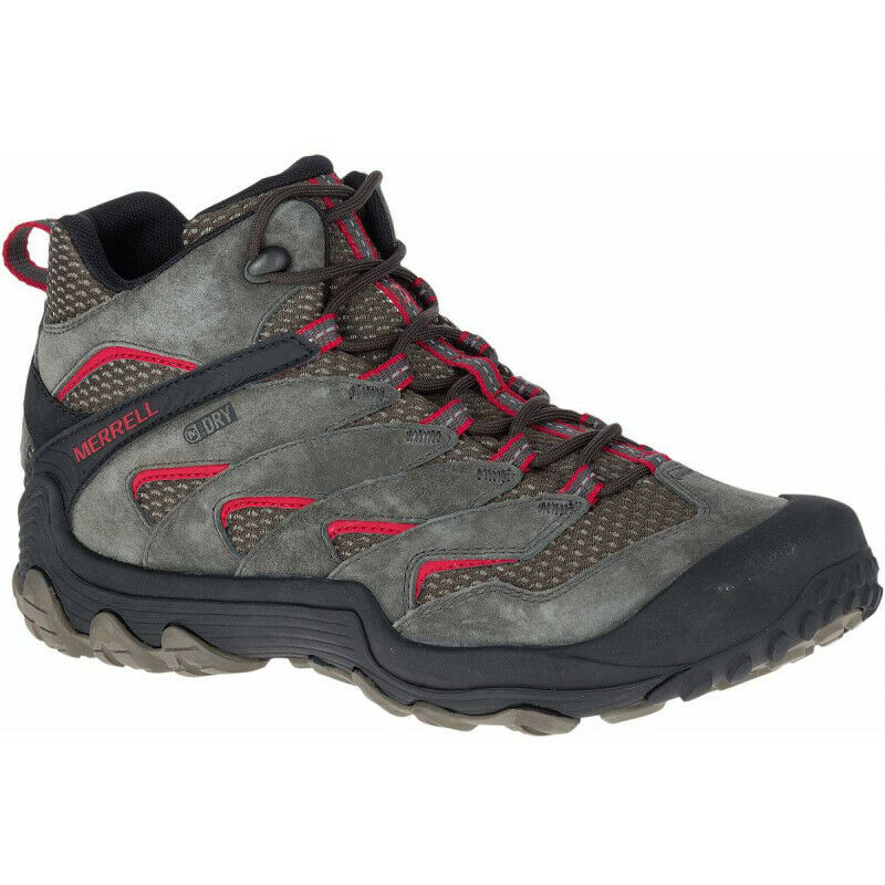 Mens  Merrell Chameleon 7 Limit Mid Waterproof Mens Walking Boot - Grey 1  best prices and freshest styles