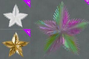 Natale-Lamina-Stella-A-STELLA-16-034-Appeso-Soffitto-Decorazioni-fiocco-di-neve-snow