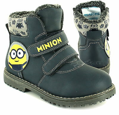 Boys Despicable Me Minions Winter Boots Wellington Boots Wellies Welly Sizes 6-1