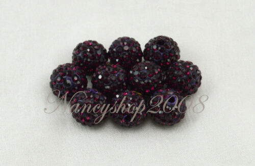 5//10//20pcs 10mm Premium Quality Crystal Paved Clay Disco Ball Shamballa Beads
