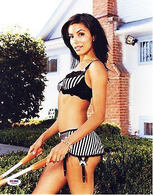 Eva Longoria Signed 11x14 Sexy Photo Autograph Psa Dna
