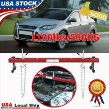 Engine Load Leveler 1100lbs//500KG Capacity Support Bar Transmission w//Dual Hook