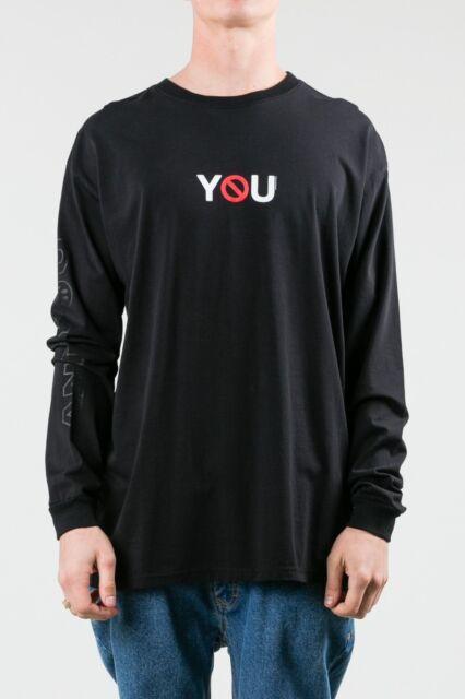 Rusty Anti You Men's T-Shirt Casual Black Size M Long Sleeve Cotton Tee