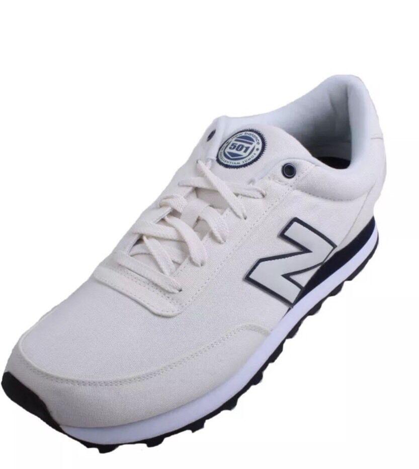 New Men's New Balance ML501SWO White/Navy Athletic 13 D (J2276)