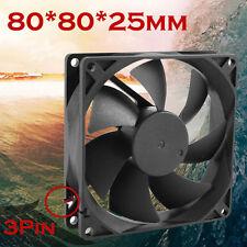 80mm/80x80x25mm 12V Computer/PC/CPU Silent Cooling Case Lüfter Mod 3-Pin Molex