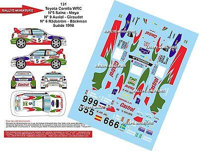 DECALS 1//43 REF 0256 TOYOTA COROLLA WRC DIDIER AURIOL RALLYE CHINE 1999 RALLY