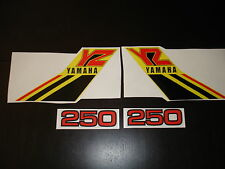 1984 YAMAHA YZ 250 GAS TANK AND SIDE PANEL DECALS AHRMA VINTAGE MOTOCROSS