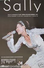 "SALLY YEH ""INTIMATELY YOURS"" ASIAN PROMO POSTER - Mandopop / Cantopop Music"