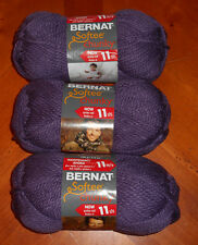Bernat Softee Chunky Yarn Lot Of 3 Skeins (Dark Mauve #28323)
