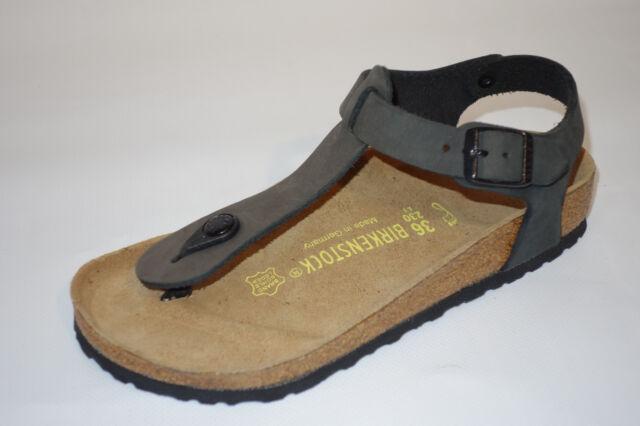 Birkenstock Kairo Gr 36 Weite normal Leder Schwarz Sandalen Fersenriemen