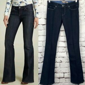 bfe56159fc0d7 Image is loading Paige-Laurel-Canyon-Dark-Wash-Boot-Cut-Jeans-