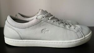 Mens-Lacoste-Soft-Putty-Grey-Leathers-Trainers-UK-10
