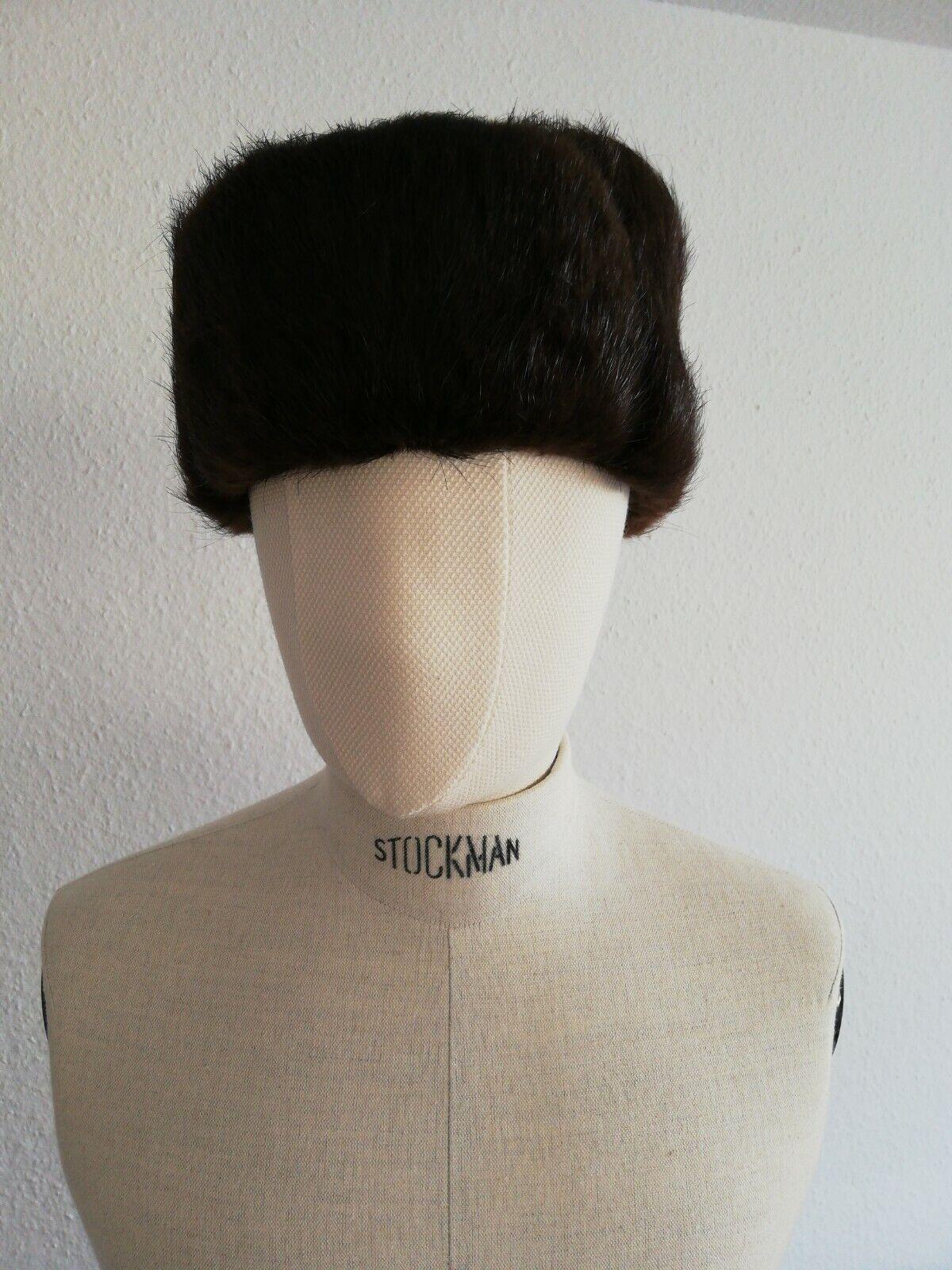 5fb2bcd5b800f Hondrocream ist die Schnellste HERREN SHAPKA Russische Pelz Mütze Mütze  Mütze Moskau aus den 90igern