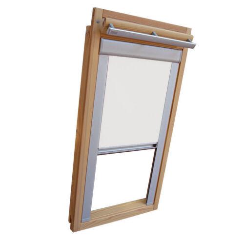 Verdunkelungsrollo mit Schienen für Velux-Dachfenster GGL//GPL// in Thermo weiss