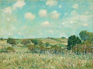 ALFRED-SISLEY-FRENCH-MEADOW-OLD-ART-PAINTING-POSTER-PRINT-BB4798A