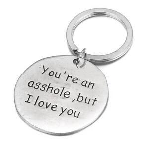 Women Cute Key Chain Couple Stainless Steel Keyring Keyfob Lover Weirdo Gift YS