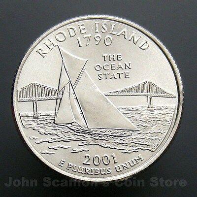 "2001 D Rhode Island State Quarter New U.S Mint /""Brilliant Uncirculated/"""