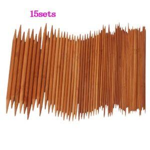 15-Saetze-7-87-034-Stricknadeln-aus-Bambus-Nadelspiel-US-0-15