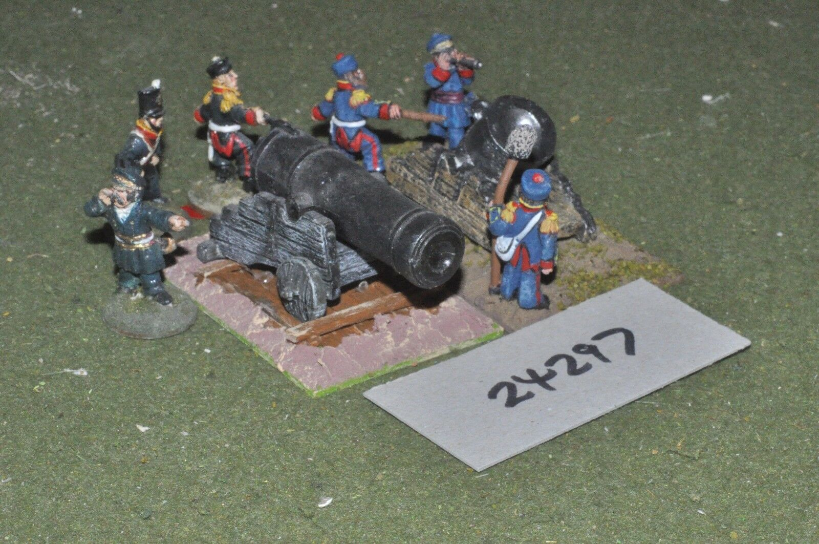 28mm 19th century   british - siege mortor & gun & crew - art (24297)