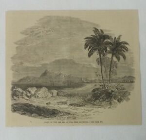 1880-Revista-Grabado-Coast-Of-Red-Sea-en-Tor-Rephidim