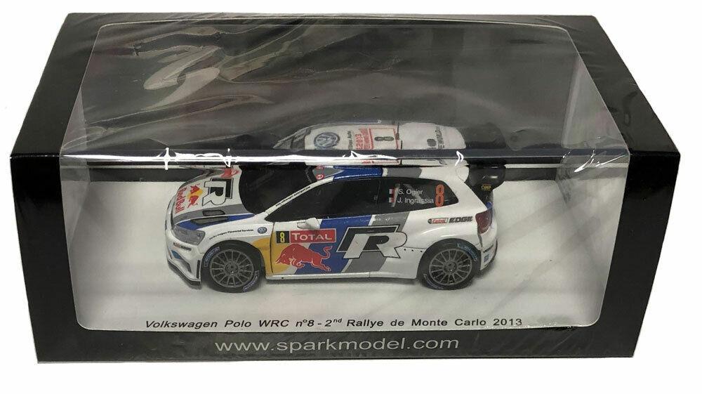 SPARK Volkswagen Polo WRC  8 2nd Monte Carlo 2013-SEBASTIEN OGIER échelle 1 43
