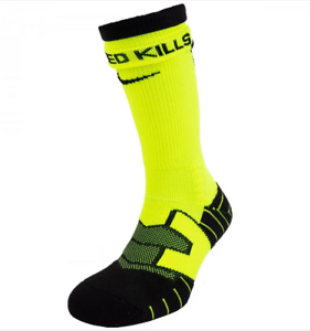 Details about New Nike Elite Vapor DRI-FIT Football Crew Socks Black Volt -  Men's M/L/XL