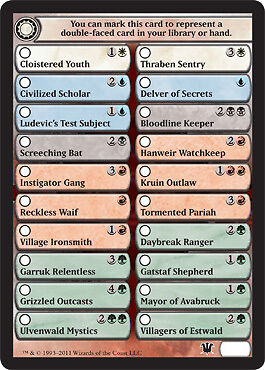 4x Check Card for Flip Cards Innistrad MtG Magic 4 x4 Card Cards
