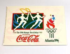 Coca-Cola Coke Atlanta USA 1996 Olympia Torcia Corsa cartolina cartolina