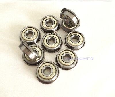 New 10pcs Flange Ball Bearing F696ZZ 6*15*5 mm Metric flanged Bearing