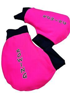 Ruderhandschuhe-Pink-schwarz-mit-Aufdruck-Rudern-Rowing-Poggies
