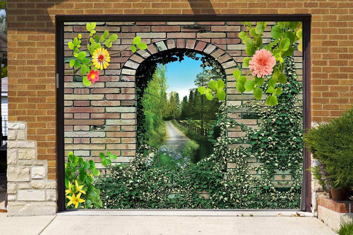 3D Wall Flowers 8 Garage Door Murals Wall Print Decal Wall AJ WALLPAPER UK Carly
